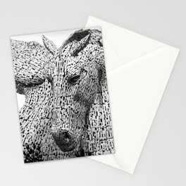 The Kelpies, Water Spirits, Falkirk, The Helix, Scotland black and white photography, 2019 Stationery Cards