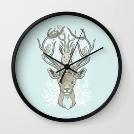 Friends & Birds Wall Clock