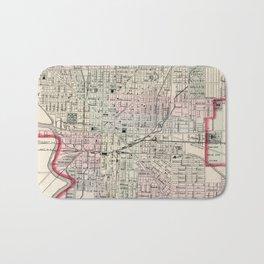Vintage Map of Indianapolis Indiana (1884) Bath Mat
