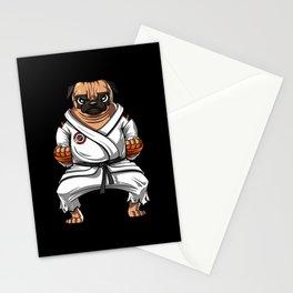 Karate Pug Dog Martial Arts Ninja Stationery Cards
