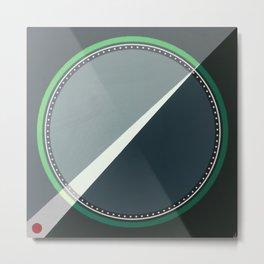 London - green circle Metal Print
