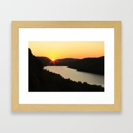 Sunrise over Lake of the Clouds Framed Art Print