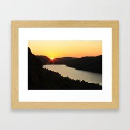 Sunrise over Lake of the Clouds Framed Art Print