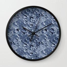 Blue Moonscape Wall Clock