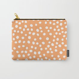 Orange and white doodle dots Carry-All Pouch
