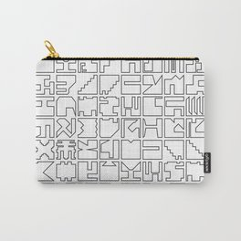 Printed Pixels Carry-All Pouch