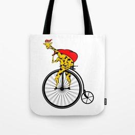 Giraffe Santa Chritmas Tote Bag
