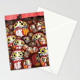 Daruma dolls Stationery Cards