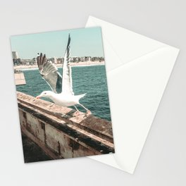 Seagull Taking Flight // California West Coast Pier Vibes Beach Ocean Surf City USA Stationery Cards