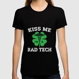 Kiss Me I'm A Rad Tech Radiology Irish T-shirt
