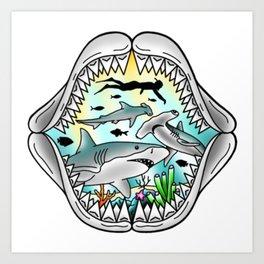 Shark Swim Art Print