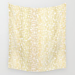 Luxe Gold Woven Burlap Texture Hand Drawn Vector Pattern Background Wall Tapestry