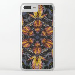 Hexagon Leaf Clear iPhone Case