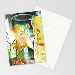 """""""Deep Growth"""" Original Painting by Flora Bowley Stationery Cards"""
