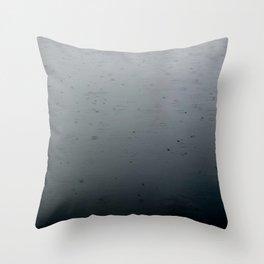 raindrops, south lake union Throw Pillow