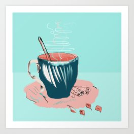 coffee with love Art Print