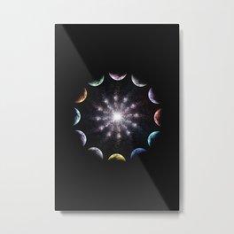Twelve Moons Metal Print