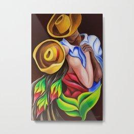 Bailando Cuban art by Miguez Metal Print
