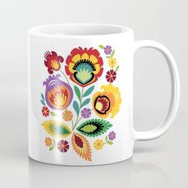 Polish Folk Flowers Red Coffee Mug