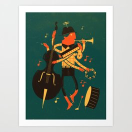 Music Man Art Print