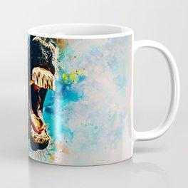 horse hilarious big mouth watercolor splatters Coffee Mug