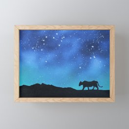 Leopard Silhouette Framed Mini Art Print