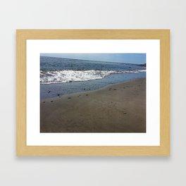 Black sand beach, El Salvador 2 Framed Art Print