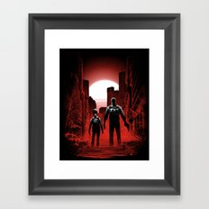 Quarantine: Joel and Ellie Framed Art Print