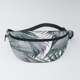 Tropical Leaves Green Fanny Pack