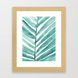 Green Palm Leaf Crop Framed Art Print