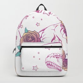 Pastel Goth Trex Design. Aesthetic Vaporwave Dinosaur Gift graphic Backpack