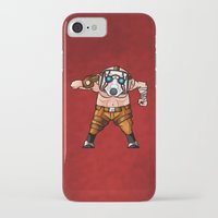 borderlands iPhone & iPod Cases featuring BORDERLANDS PSYCHO by DROIDMONKEY