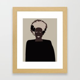 lady frankenstein Framed Art Print