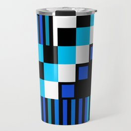 Playing with Colors | Shapes | Black and White | I Feel Blue Travel Mug