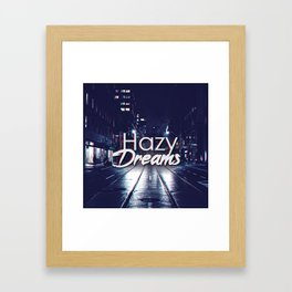 Hazy Dreams Framed Art Print