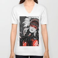 hunter V-neck T-shirts featuring Hunter by Filipe Survival