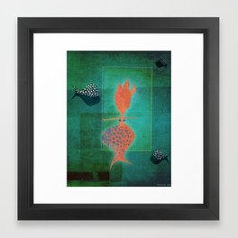 Shiny Mermaid Framed Art Print