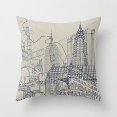 New York! Throw Pillow