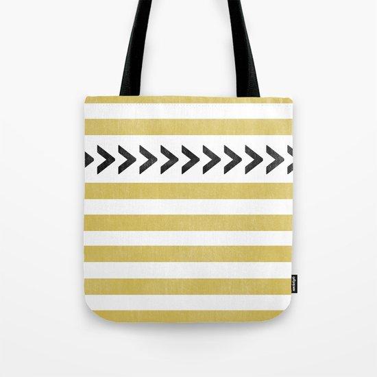 ARROW STRIPE {MUSTARD} Tote Bag