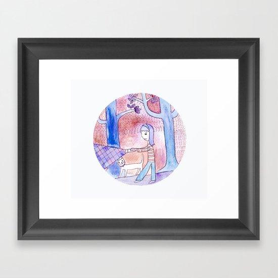 Lost in the dark Framed Art Print