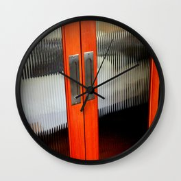 Ribbed Glass Doors - A Half Made Bed Wall Clock