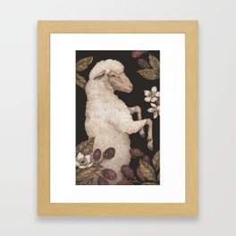 The Sheep and Blackberries Framed Art Print