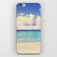 breathe iPhone & iPod Skins featuring BREATHE by Good Sense