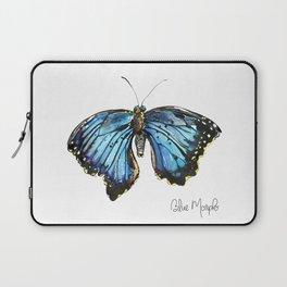 Blue Morph Butterfly Laptop Sleeve