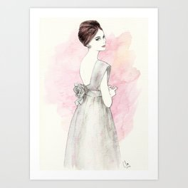 'Olivia' Watercolor Fashion Illustration Art Print
