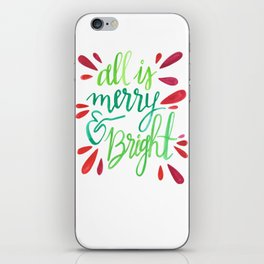 All is Merry and Bright iPhone Skin