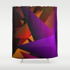 Smoke Screen Abstract 2 Shower Curtain