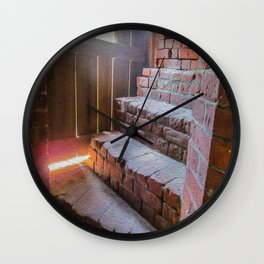 Climb the Steps of Time Wall Clock