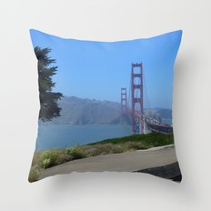 Golden Gate Bridge from the Presidio Throw Pillow