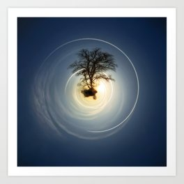 Tiny Planet 5 - The Last Lampost Art Print